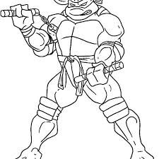 Michelangelo Coloring Pages Free Printable Ninja Turtles