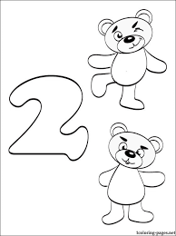 Number 2 Coloring Pages Preschoolers