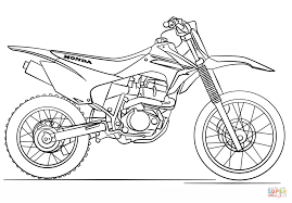 Click The Honda Dirt Bike Coloring Pages To View Printable