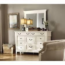 Sauder Harbor View Dresser Antiqued White Finish by Sauder Beginnings 3 Drawer Soft White Dresser 416350 The Home Depot