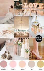 Rose blush gold wedding theme & mismatched bridesmaid dresses
