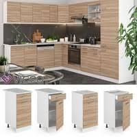 vicco küche 270 cm küchenzeile küchenblock real