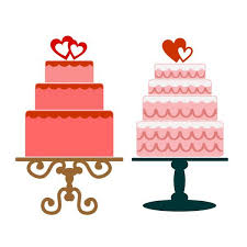 Wedding Cake Cuttable Design Cut File Vector Clipart Digital Scrapbooking Download Available in JPEG PDF EPS DXF and SVG