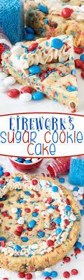 Fireworks Sugar Cookie Cake Recipe