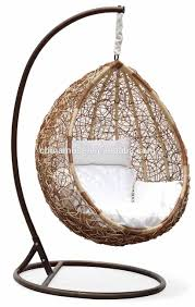 Luxury Indoor Patio Garden Rattan Egg Shaped e Person Seat