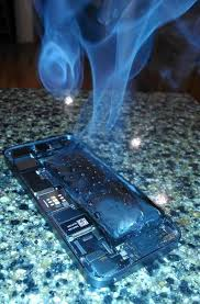 s of an iPhone 5s whose battery caught fire and exploded
