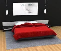 Home Interior The Black And Red Bedroom Design Ideas Simple