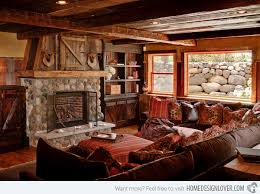 Rustic Living Room 15 Homey Designs Home Design Lover Ideas