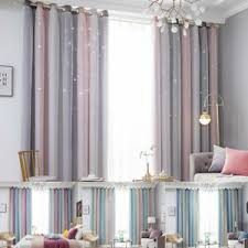 details zu vorhänge blickdicht doppelschicht vorhänge garn sterne tüll gardinen wohnzimmer