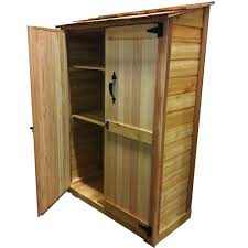 Suncast Outdoor Vertical Storage Shed by Outdoor Living Today 4 Ft X 2 Ft Cedar Garden Storage Shed Gc42