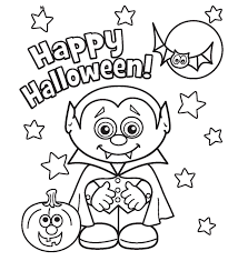 Stylish And Peaceful Childrens Halloween Coloring Pages Little Vampire Printabel Boys