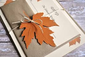 Fall Wedding Invitations Autumn Leaf