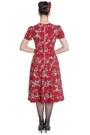 hell bunny birdy 40s 50s tea party pin up landgirl ww2 retro