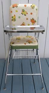 Vintage Comfort Line Metal Vinyl High Chair On PopScreen