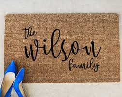 Personalized Wel e Mat Personalized Front Door Mat