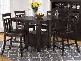 Kodak Pub Table with Storage Base and Chairs Set