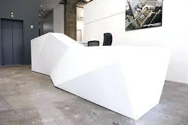 Modern Desk Design Reception Long Hotel