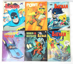 Vintage Original 1966 Batman Unused Whitman Coloring Book Lot