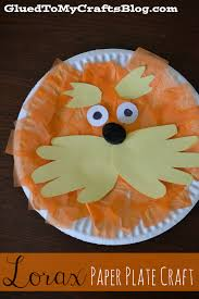 Lorax Paper Plate By Night Owl Reading Crafts For Kids