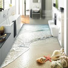 beibehang aufkleber 3d boden badezimmer wand hd ozean strand shell starfish nicht slip wasserdicht verdickt selbst adhesive pvc malerei