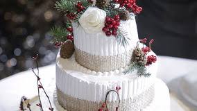 Wedding Cake With Forest Berries Stock Video Footage