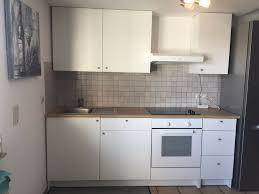 ikea küche küchenzeile weiß matt inkl elektrogeräte 220cm