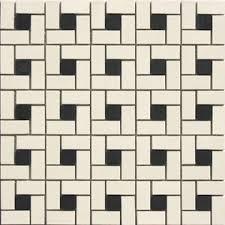 lyric unglazed porcelain spiral pinwheel pattern mosaic tile