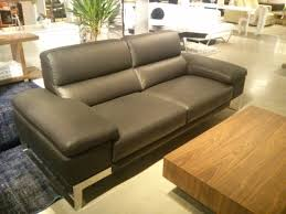 Sofa Creations Broad Street by Asiago Sofa By Nicoletti Black Top Grain Leather With Stainless