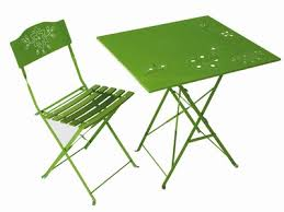 chaise et table métal castorama mobilier de jardin 2008