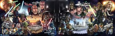 Original Trilogy Prequels And Clone Wars Poster