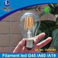 a60 golden silver top dimmable led edison filament light bulb 2300