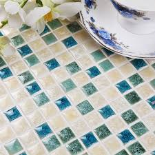green white kiln polished porcelain ceramic tiles mosaic hmcm1047