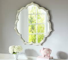 Silver Leaf Petal Mirror