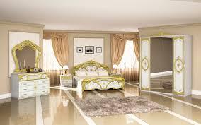 schlafzimmer barock stil juliana weiß gold 4 teilig