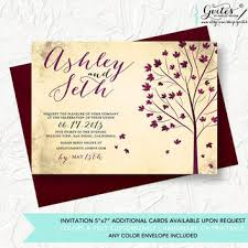 Rustic Autumn Wedding Invitation Invitations Fall Shabby Chic