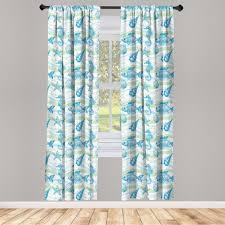 gardine fensterbehandlungen 2 panel set für wohnzimmer schlafzimmer dekor abakuhaus nautisch ozean shell starfish kaufen otto
