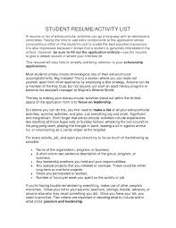 100 Extra Curricular Activities For Resume Examples Curricular To Put A Curricular