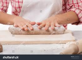 Woman Hands Knead Dough