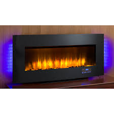 Decor Flame Infrared Electric Stove by Shop Scott Living 40 In W 4 600 Btu Black Metal Wall Mount