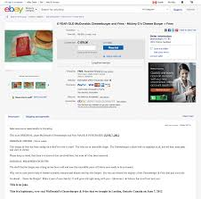 Canadian Seller Lists 6-year-old McDonald's Cheeseburger On EBay ... Playskool Fold N Roll Trucks Food Truck Ebay Clandestinely Acquired Clermont Hotel Sign For Sale Curbed Atlanta Giuseppe Zanotti Skull Slide Sandals Shop Discount Low Shipping Fee Youve Been Scammed Teen Out 1500 After Online Car Buying Scam Hello Kitty 5204 3 Figures Over 22 Fun Play Reuben Sandwich Specialty Decal 14 Ccession Restaurant Deli Step Vans For Sale N Trailer Magazine Cadian Seller Lists 6yearold Mcdonalds Cheeseburger On Straight Outta China Wildfire Wf650t With Engine Swap Ebay Seller Places Ad Ferrari Showing Woman Performing Sex Act Vintage Spartan Manor Coffee Beverage Drink