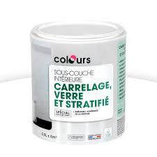 sous couche carrelage verre et stratifié blanc 0 5l castorama
