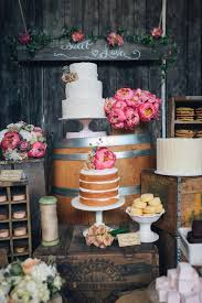 Wedding Cake GORGEOUS Rustic Country Dessert Table