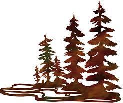 Rustic Tree Metal Wall Art