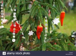 Christmas Tree Toppers Uk by Home Made Christmas Tree Decorations Uk Stock Photo Royalty Free
