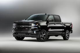 CHEVROLET TRUCKS BACK IN BLACK FOR 2016 | Kupper Automotive Group News Chevrolet And Gmc Slap Hood Scoops On Heavy Duty Trucks 2019 Silverado 1500 First Look Review A Truck For 2016 Z71 53l 8speed Automatic Test 2014 High Country Sierra Denali 62 Kelley Blue Book Information Find A 2018 Sale In Cocoa Florida At 2006 Used Lt The Internet Car Lot Preowned 2015 Crew Cab Blair Chevy How Big Thirsty Pickup Gets More Fuelefficient Drive Trend Introduces Realtree Edition