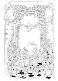 Lost Garden Coloring Book Orangery By Pippa Rossi