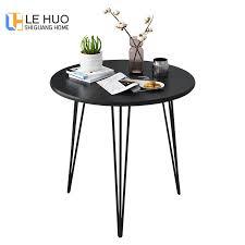 runde kaffee tisch langlebige kompakte kleine esstisch schwarz weiß holz tabke mit stahl beine für wohnzimmer und bett zimmer