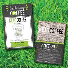 Printable It Works Global Keto Coffee Sample Cards Digital