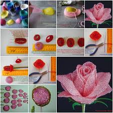 How To Make French Beaded Rose Step By