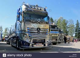 PORVOO, FINLAND - JUNE 28, 2014: Mercedes-Benz Actros Show Truck ...